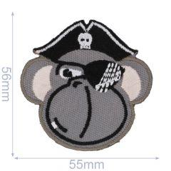 Applicatie Piraat aap grijs - 5st