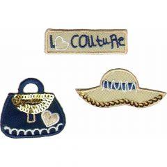 Applicatie Set couture handtas hoed - 5 sets