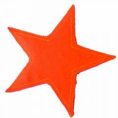 Applicatie Ster neon oranje/groen/geel - 5st
