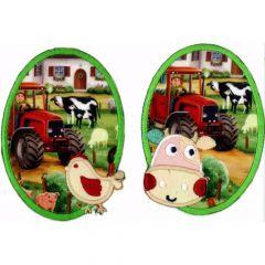Applicatie Knie-elleboogstuk boerderij 2 stuks - 5 sets