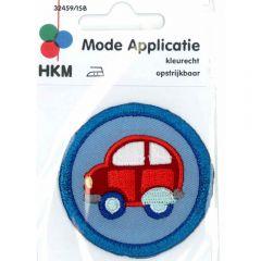 Applicatie Rode auto in blauwe circel - 5st