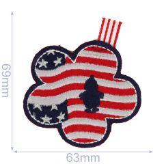 Applicatie US vlag in bloemenvorm - 5st
