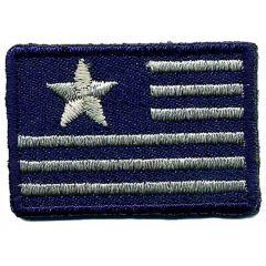 Applicatie Vlag klein Zwitserland blauw wit - 5st