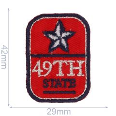 Applicatie Button 49th State rood - 5st