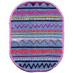 Applicatie jeans met aztekenfiguur  - 5st