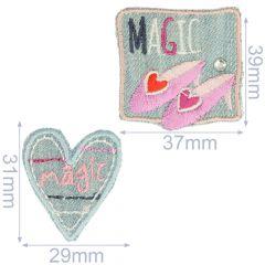 HKM Applicatie magic en schoenen jeans - 5x2st