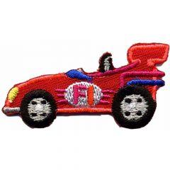 Applicatie Racewagen klein rood - 5st