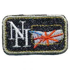 Applicatie NH met vlag op zwart - 5st