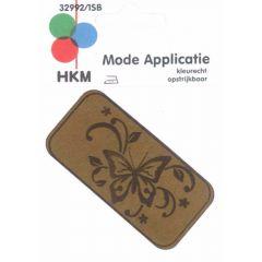 Applicatie Vlinder Leer Gelaserd  - 5st