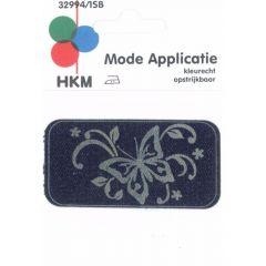 Applicatie Vlinders Jeans Gelaserd - 5st