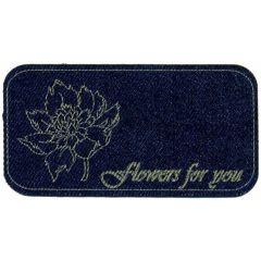 Applicatie Flowers for you jeans gelaserd - 5st