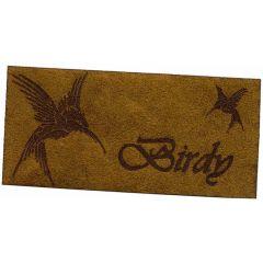 Applicatie Birdy vogel leer gelaserd - 5st