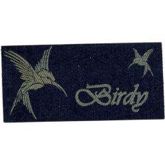 Applicatie Birdy vogel jeans gelaserd - 5st