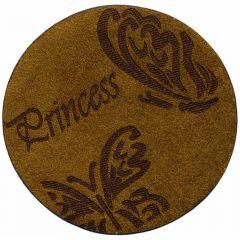 Applicatie Princess vlinders leer gelaserd - 5st
