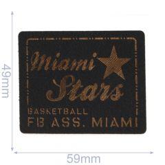 Applicatie Miami Stars Leer Gelaserd - 5st