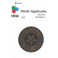 Applicatie All Stars Leer Gelaserd  - 5st