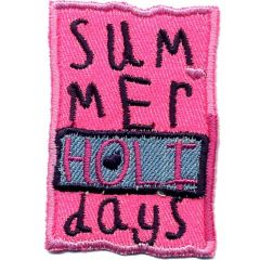 Applicatie Summer Holidays roze - 5st
