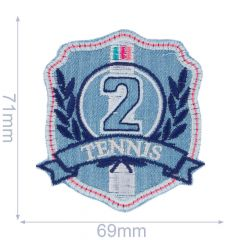 Applicatie Tennis 2 blauw/roze - 5st