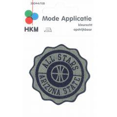 Applicatie All Stars Jeans Leer Gelaserd - 5st