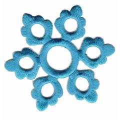 Applicatie Sneeuwvlok groot blauw - 5st