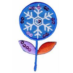 Applicatie Sneeuwbloemen met paillettent - 5st