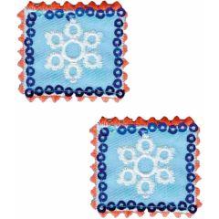 Applicatie Postzegels met sneeuwvlokken set 2 stuks - 5 sets