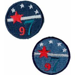 Applicatie Set van buttons jeans 2 stuks - 5 sets