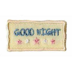Applicatie good night geel/blauw - 5st