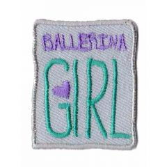 Applicatie ballerina girl beige - 5st