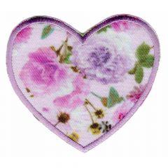 Applicatie Hart rozenprint - 5st