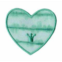 Applicatie Hart groen/blauw/paars - 5st