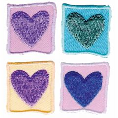 Applicatie Hart set 4 stuks - 5 sets