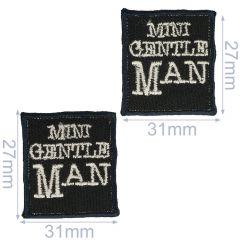 HKM Applicatie mini gentleman 31x27mm - 5x2st