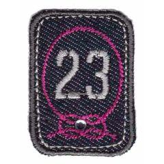 Applicatie 23 grijs-roze - 5st