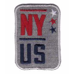 Applicatie NY US grijs-rood-blauw - 5st