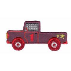 Applicatie reflectie auto rood/blauw met gele ster - 5st