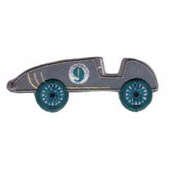 Applicatie reflectie raceauto grijs-groen/blauw/rood - 5st