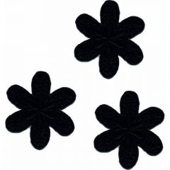 Applicatie bloem groot set 3 stuks - 5 sets