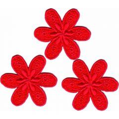 Applicatie bloem klein set 3 stuks - 5 sets