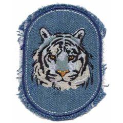 Applicatie Jeans met tijgerhoofd - 5st