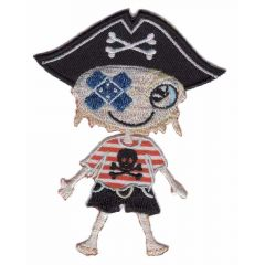Applicatie Piratenjongen met pleister - 5st