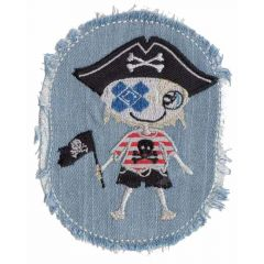 Applicatie Jeans met piratenjongen of -meisje - 5st