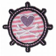Applicatie Stuurwiel met roze hart - 5st