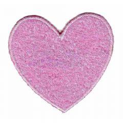 Applicatie Hart roze - 5st