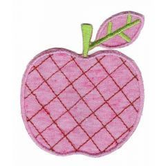 Applicatie Appel (donker)roze/groen - 5st