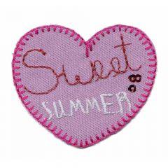 Applicatie Hart sweet summer - 5st