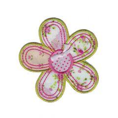 Applicatie Bloem met roze - 5st