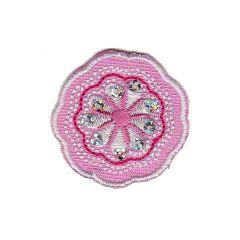 Applicatie Bloem roze - 5st