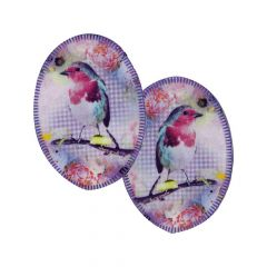 Opry Kniestukken opstrijkbaar met vogels - 5 st