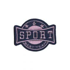 Applicatie Sport wapen rood/roze/beige - 5st